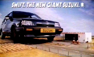 it's a Giant Suzuki, and it's moving fast!