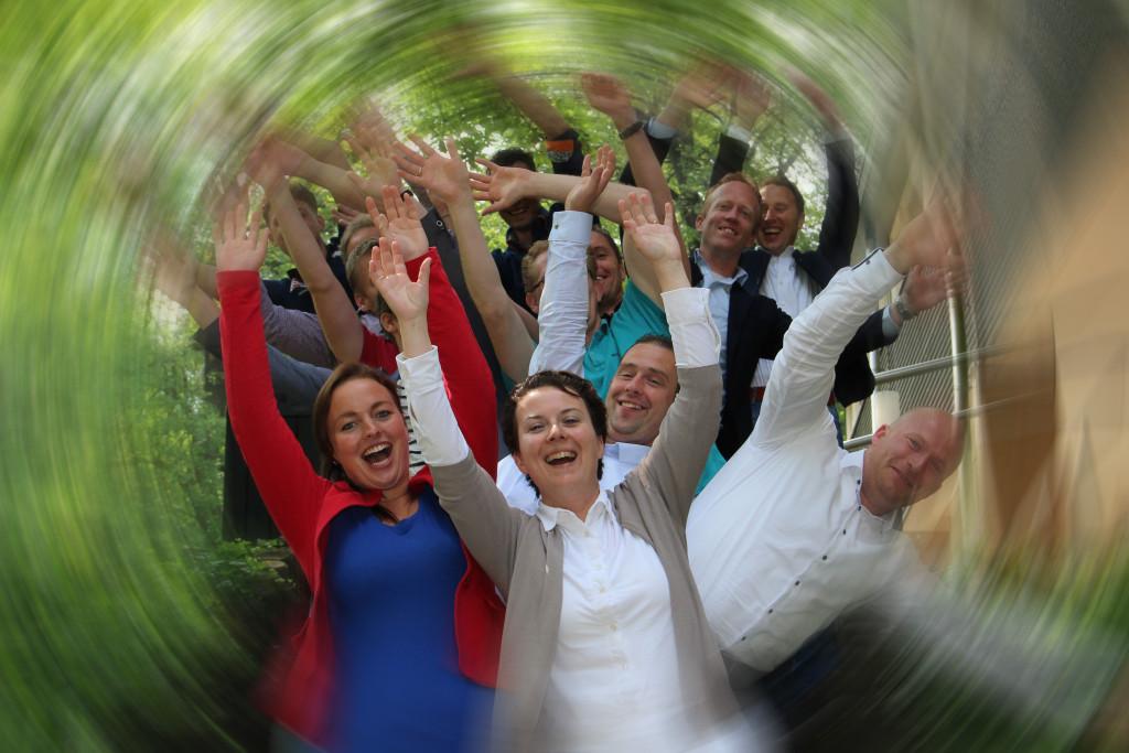 groepsfoto rollercoaster