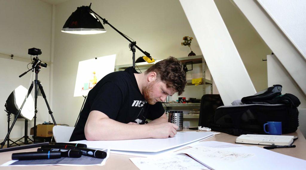 tekenfilm illustrator